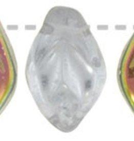 25 PC 7x12mm Leaf : Crystal Vitrail