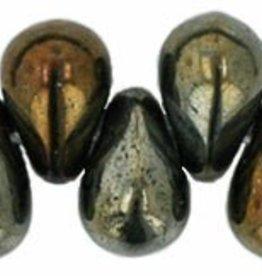100 PC 4x6mm Teardrop : Brown Iris