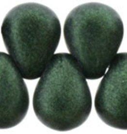 100 PC 4x6mm Teardrop : Chrome Emerald Green