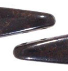 50 PC 5x16mm 2 Hole Dagger : Jet Marbled Dark Bronze