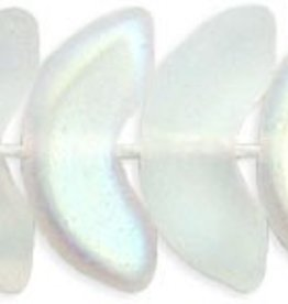 25 PC 15mm Angel Wing : Matte Crystal AB