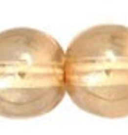 25 PC 6mm Round : Transparent Champagne Luster