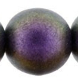 25 PC 8mm Round : Polychrome Black Current