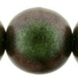 25 PC 8mm Round : Polychrome Olive Mauve