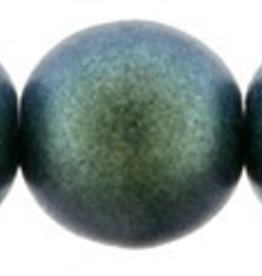 25 PC 8mm Round : Polychrome Aqua Teal