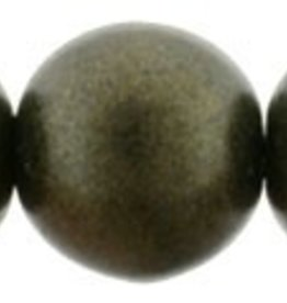 25 PC 8mm Round : Metallic Suede Dark Green