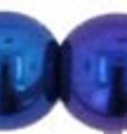 50 PC 4mm Round : Blue Iris