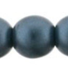 50 PC 4mm Round : Steel Blue