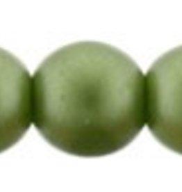 50 PC 4mm Round : Olive