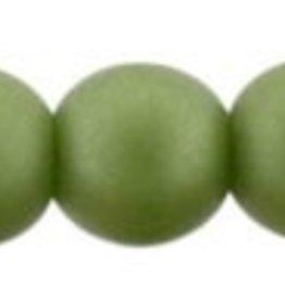 50 PC 4mm Round : Matte Olive