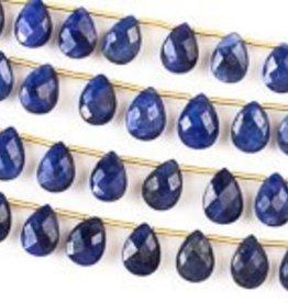 "8.5"" 7x10mm Faceted Briolette : Sapphire"