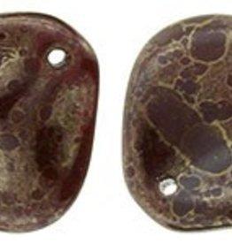 25 PC 14x13mm Rose Petal : Oxblood Moondust