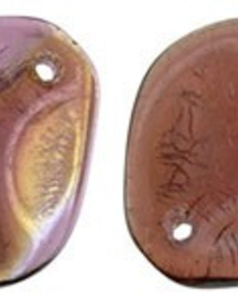 25 PC 14x13mm Rose Petal : Fuchsia Twilight