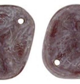 25 PC 14x13mm Rose Petal : Stone Topaz/Oxblood Luster