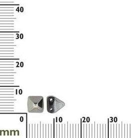 25 PC 6mm 2 Hole Pyramid : Jet Chrome