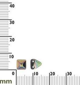 25 PC 6mm 2 Hole Pyramid : Jet Vitrail