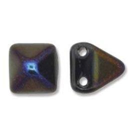 25 PC 6mm 2 Hole Pyramid : Jet Azuro