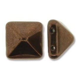 12 PC 12mm 2 Hole Pyramid : Jet Bronze