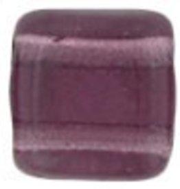 50 PC 6mm 2 Hole Tile : Amethyst