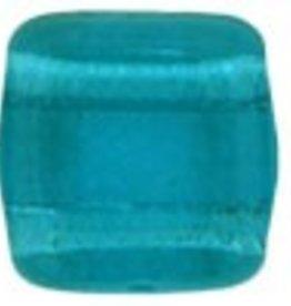 50 PC 6mm 2 Hole Tile : Teal