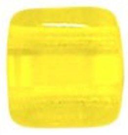50 PC 6mm 2 Hole Tile : Lemon