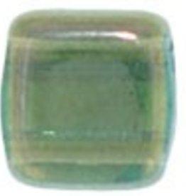 50 PC 6mm 2 Hole Tile : Aquamarine Twilight