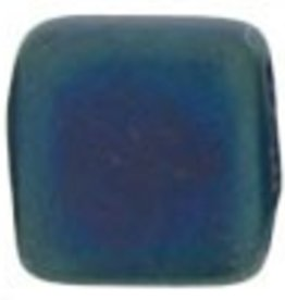 50 PC 6mm 2 Hole Tile : Matte Blue Iris