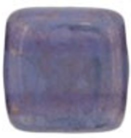 50 PC 6mm 2 Hole Tile : Milky Alexandrite Moondust