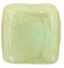 50 PC 6mm 2 Hole Tile : Opaque Pale Turquoise Stardust