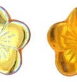 25 PC 16x4mm Flat Flower : Topaz AB