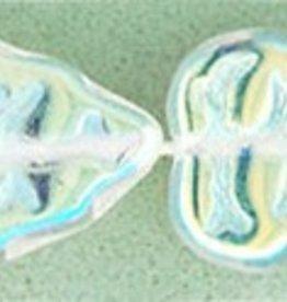 25 PC 8x10mm Vertical Leaf : Crystal AB