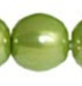 120 PC 4mm Round Glass Pearl : Olive
