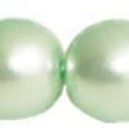 75 PC 6mm Round Glass Pearl : Chrysolite