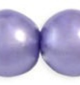 75 PC 6mm Round Glass Pearl : Tanzanite