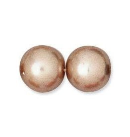 75 PC 6mm Round Glass Pearl : Mauve
