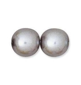 75 PC 6mm Round Glass Pearl : Silver