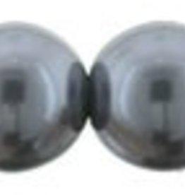 75 PC 8mm Round Glass Pearl : Hematite