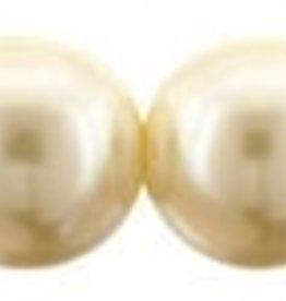 75 PC 8mm Round Glass Pearl : Cream