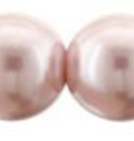 75 PC 8mm Round Glass Pearl : Pink