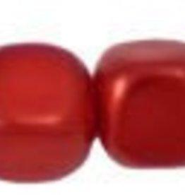 120 PC 4mm Cube Glass Pearl : Tangerine