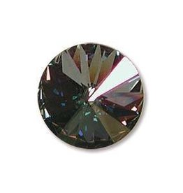 2 PC 14mm Swarovski Rivoli : Crystal Starlight Foil Back