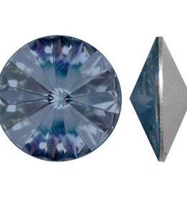 2 PC 12mm Swarovski Rivoli : Montana Blue Foil Back