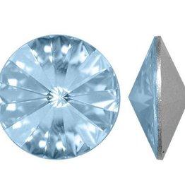 2 PC 12mm Swarovski Rivoli : Crystal Blue Shade Foil Back
