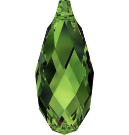2 PC 13x6.5mm Swarovski Briolette : Fern Green