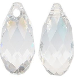 2 PC 11x5.5mm Swarovski Briolette : Crystal