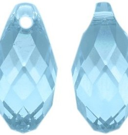 2 PC 11x5.5mm Swarovski Briolette : Aquamarine