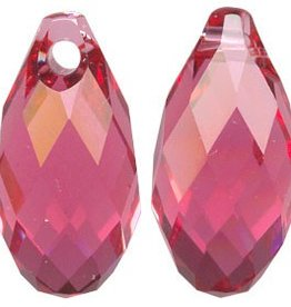 2 PC 11x5.5mm Swarovski Briolette : Indian Pink