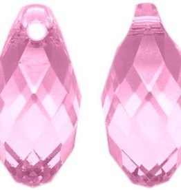 2 PC 11x5.5mm Swarovski Briolette : Light Rose