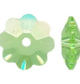 12 PC 6mm Swarovski Marguerite : Peridot