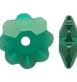 12 PC 6mm Swarovski Marguerite : Emerald